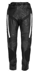 Difi Mondello motoros bőrnadrág Fekete/Fehér